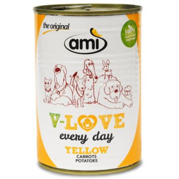 Wet Dog Food Ami V-Love YELLOW Vegetarian / Vegan, 400g