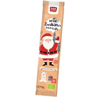 .★ Father Xmas Dark Chocolate Lolly Organic, 15g