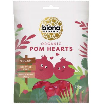 Jelly Pomegranate Hearts Organic, 75g