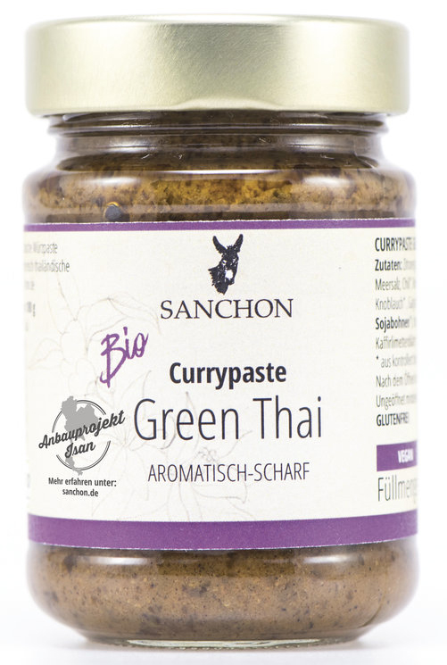 Curry Paste Green Thai Organic, 190g -