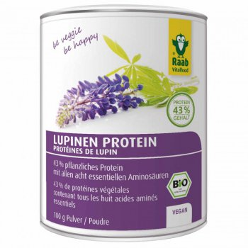 Lupine Protein Powder Raw Organic, 100g