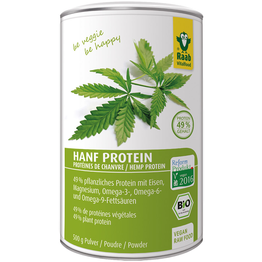 Hemp Protein Powder Raw Food Quality Organic, 500g