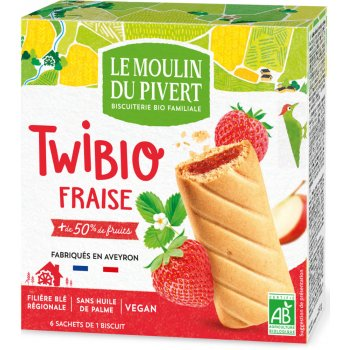 Twibio Strawberry Filled Biscuits Organic, 150g