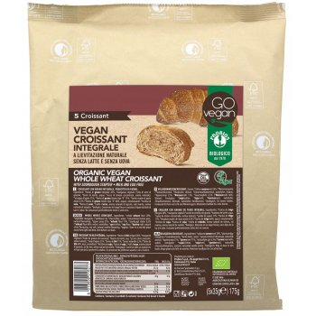 Vegan Croissant Whole Wheat 5 Pcs Organic, 175g