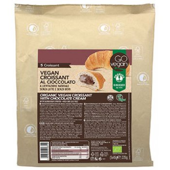 Vegan Croissant (Wheat) Chocolate Cream Organic, 5 Croissants