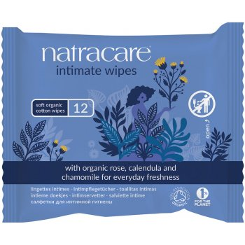 Organic Intimate Wipes, 12 pcs