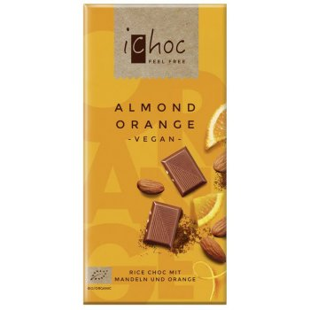 iChoc Almond Orange - Rice Choc Schokolade Bio, 80g