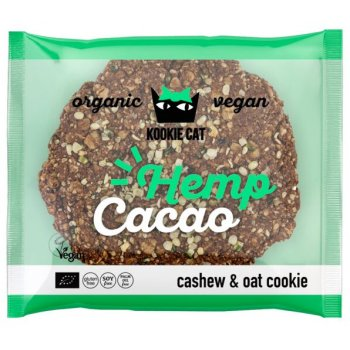 KOOKIE CAT Hemp Cacao Cookie Gluten Free Organic 50g