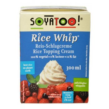 Rice Whip Topping Cream, 300ml