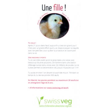 Flyer: Oeuf Une fille!