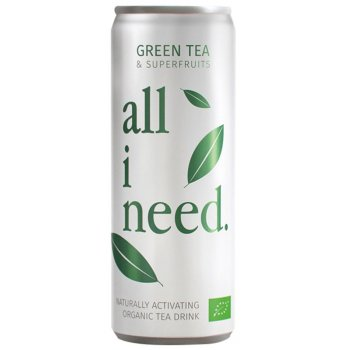 Energy Drink all i need Grünteegetränk Bio, 250ml