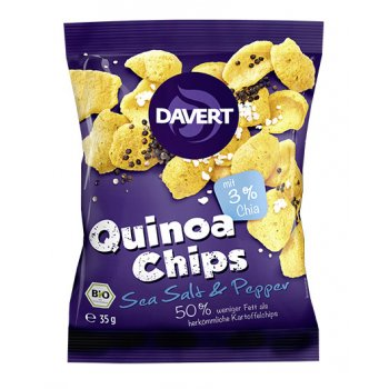Quinoa Chips – Sea Salt & Pepper Organic, 35g