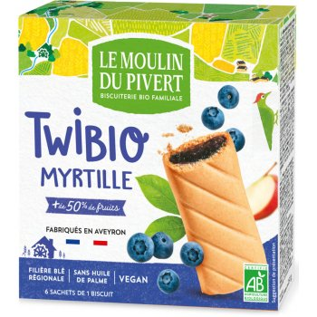 Twibio Blueberry Duo Biscuits Organic, 150g