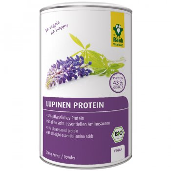 Lupine Protein Powder Raw Organic, 500g