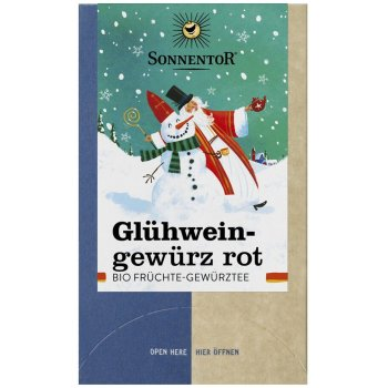 Fruit Tea Seasoning for Mulled Wine Red (Glühwein) Organic, 20 Bags
