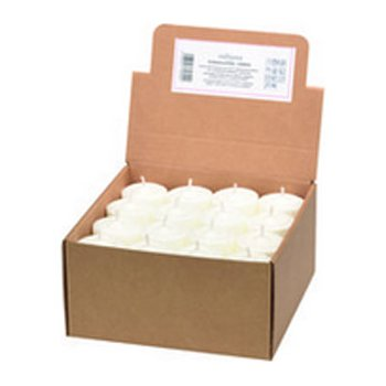 Candles Pack of 48 Tea Light without holder - white