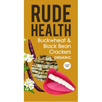 Crackers Buckwheat & Black Bean Glutenfree Organic, 120g