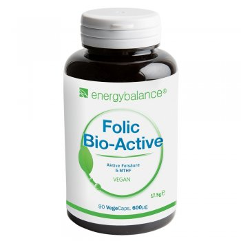 Acide Folique Bio-Active 5-MTHF 500µg, 90 VegeCaps