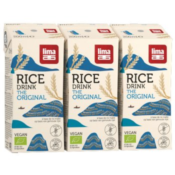 Mini Drink Rice Original Organic, 3x200ml