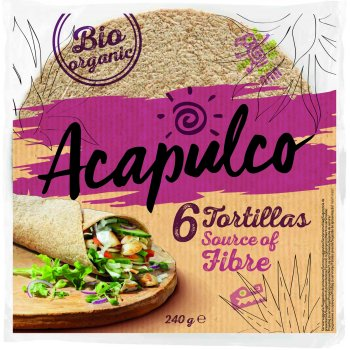 Tortilla Wraps Wheat Bran 6pcs Organic, 240g