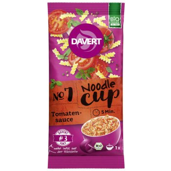 Davert Noodle-Cup Tomatensauce Bio, 67g