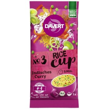 Davert Rice-Cup Indian Curry Organic, 67g