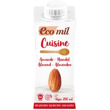 Cuisine Almond Sugar Free Organic, 200 ml