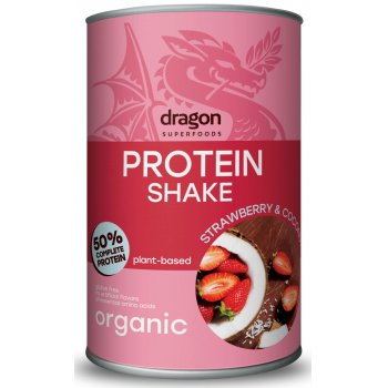 Protein Shake Strawberry & Coconut Organic, 450g