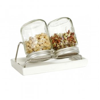 Eschenfelder Set of 2 Sprouting / Germination Glass Jar 1 Liter