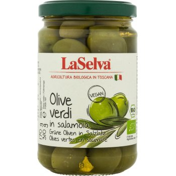 Olives Verdi Green Olives in Brine Organic, 310g