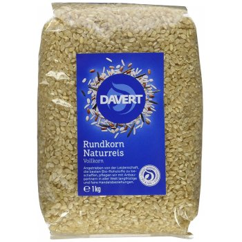 Rice round grain brown rice whole grain organic, 1kg