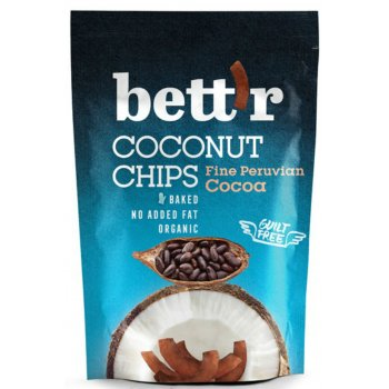 Chips Coconut Chips Cacao Bio, 70 g