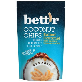 Chips Coconut Salted Caramel Organic, 70 g