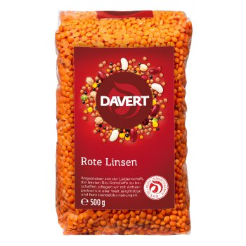 Lentils Red Raw Food Quality Organic, 500g