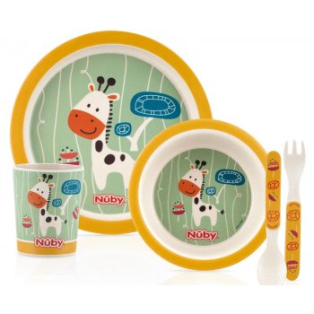 Bamboo Childrens Table Wear Set GIRAFFE