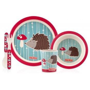 Bamboo Childrens Table Wear Set HEDGEHOG