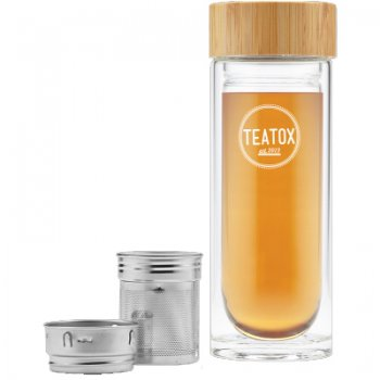 Teatox Thermo-Go Bottle, Bamboo, 330ml