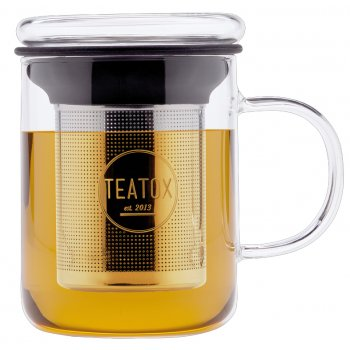 Teatox Glass Tea Mug, 350ml