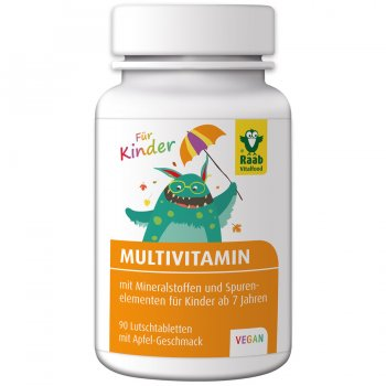 "Multivitamin Vegan for Kids ""Apple"", 90 Lozenges"