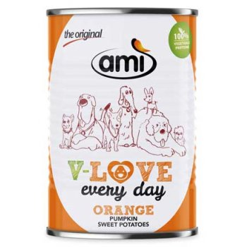 Nassfutter Ami V-Love ORANGE Every Day Vegetarisch / Vegan, 400g