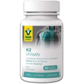 "K2 Vitamin Lozenges ""Apple"", 50 VegeCaps"