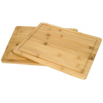 Bamboo Kitchen Aid Wood Cutting Board Set of 2 Boards, 27.5 x 32.5 x 1.5 cm