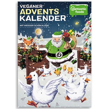 .★ Advent Calendar Vegan 2018 with White Chocolate, 150g