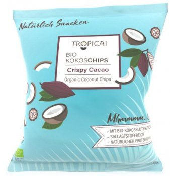 Chips Coconut Crispy Cacao Fairtrade Organic, 50g