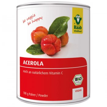 Acerola Powder pure Raw Organic, 100g