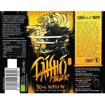 Energy Drink Daisho Tiger Bio, 250ml