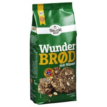 Bread Baking Mix Wunderbrød Nuts & Almonds Gluten Free Organic, 600g