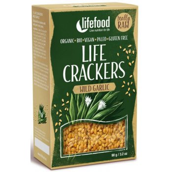Cracker GF Life Crackers Wild Garlic RAW Bio, 90g