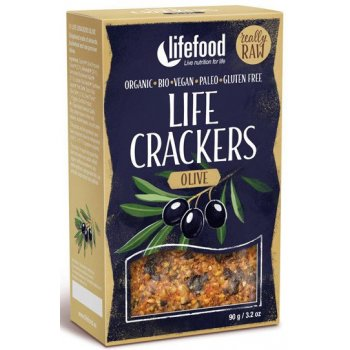 Cracker Olive Life Raw Organic, 90g