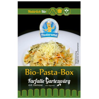 Pasta-Box Farfalle Garden Gnome with Vegetables, Organic 250g